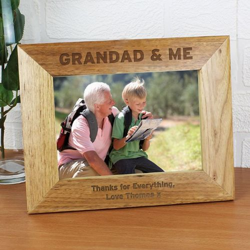 Personalised Grandad & Me 5 x 7 PhotoFrame